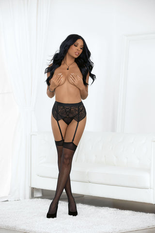 Faux Lace Up Garter Belt