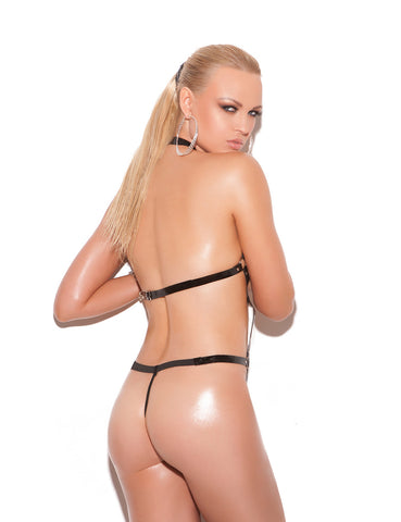 Vinyl Thong Backstrap Teddy