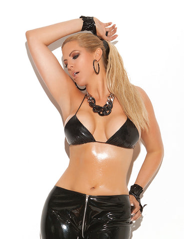 Plus Size Vinyl String Top