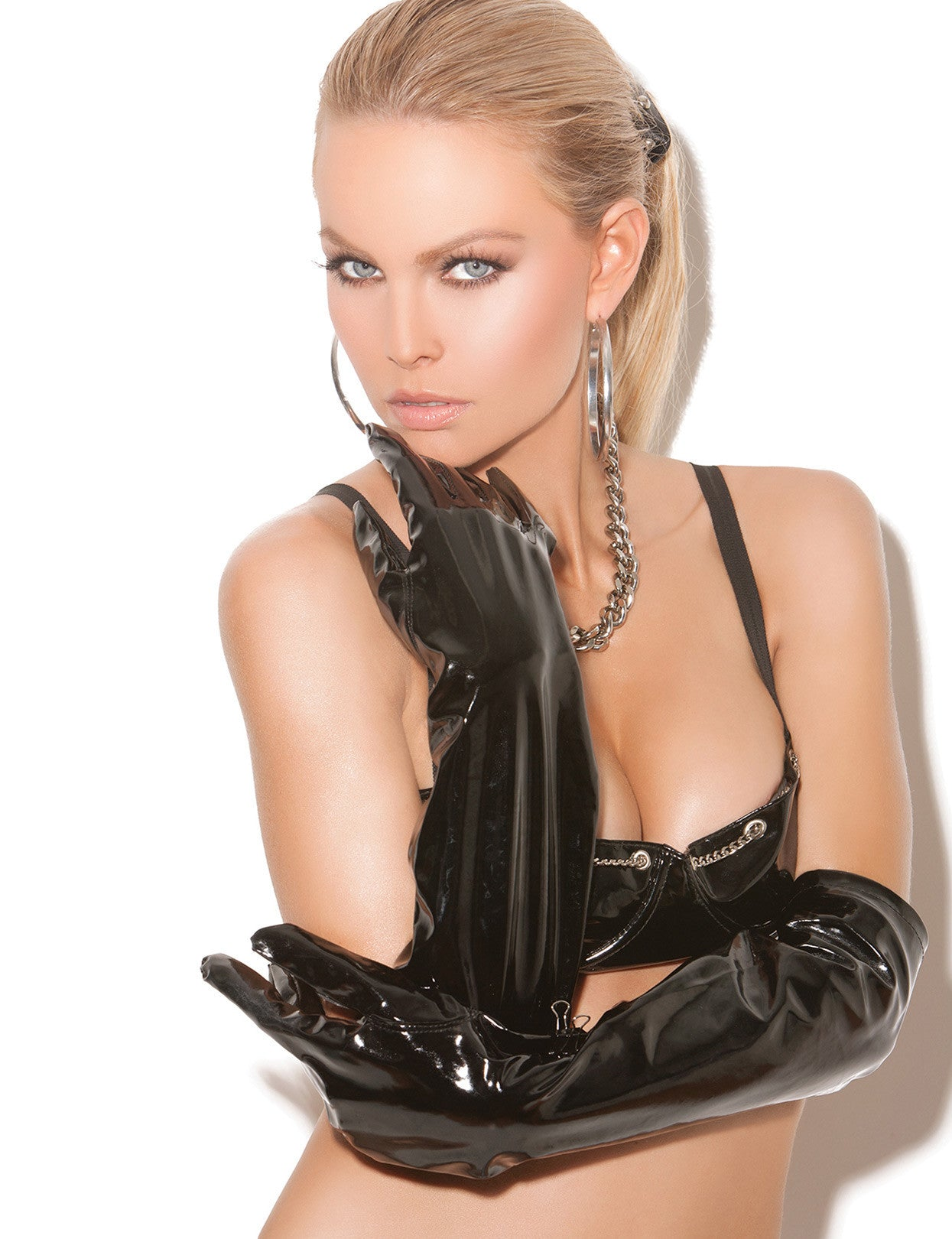 Long Vinyl Gloves - just damn sexy