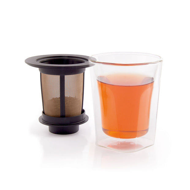 SMART BREW SYSTEM 6oz / 180ml, double wall tea glass with filter 1