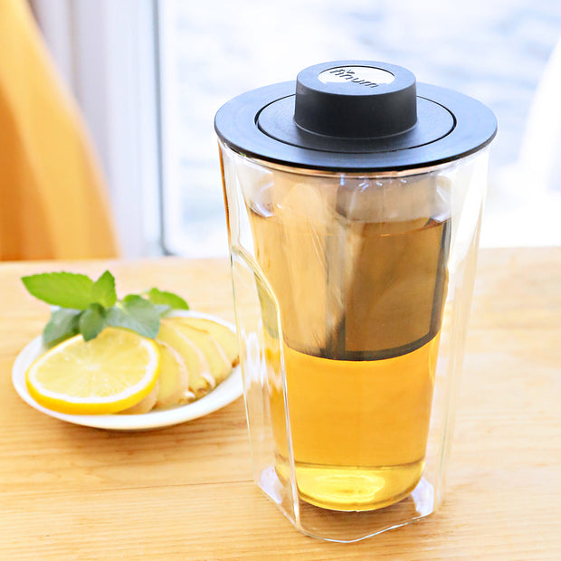 SMART BREW SYSTEM 11oz / 320ml, double wall tea glass with filter 1
