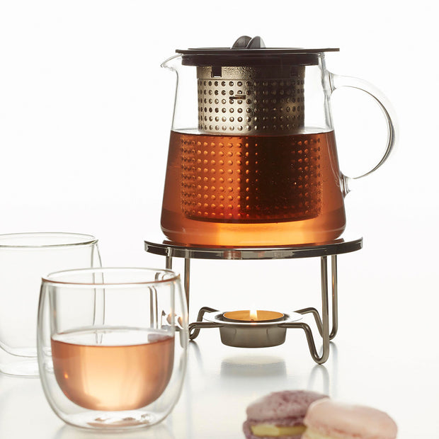 THE WARMER for teapots and for coffee carafs. Stainless steel for use with tea candle 1