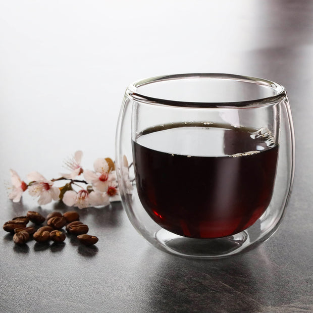 HOT GLASS Double-Wall Cup 200ml / 8 oz 1