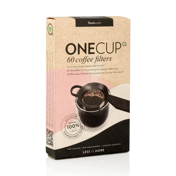60  ONE💚CUP coffee filters ( for use with separate filter mount, not included here. Pls look for the SET) 1