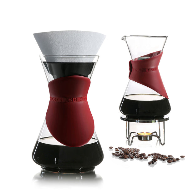 BLOOM AND FLOW™ pour-over coffee brewer (red) 1