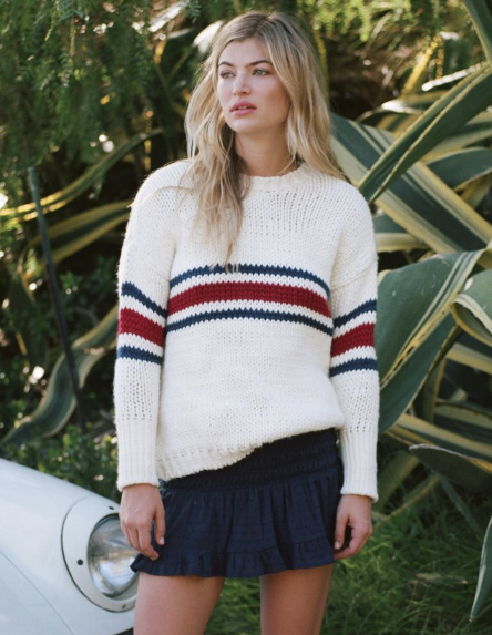 JEAN PIERRE KNIT - WHITE RED NAVY