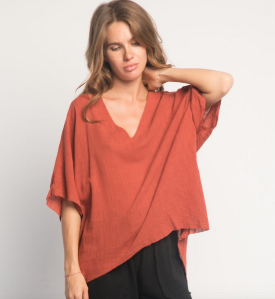 TANI TUNIC RED RUST