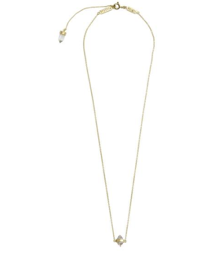 CALM CRYSTAL TINY NECKLACE Gold
