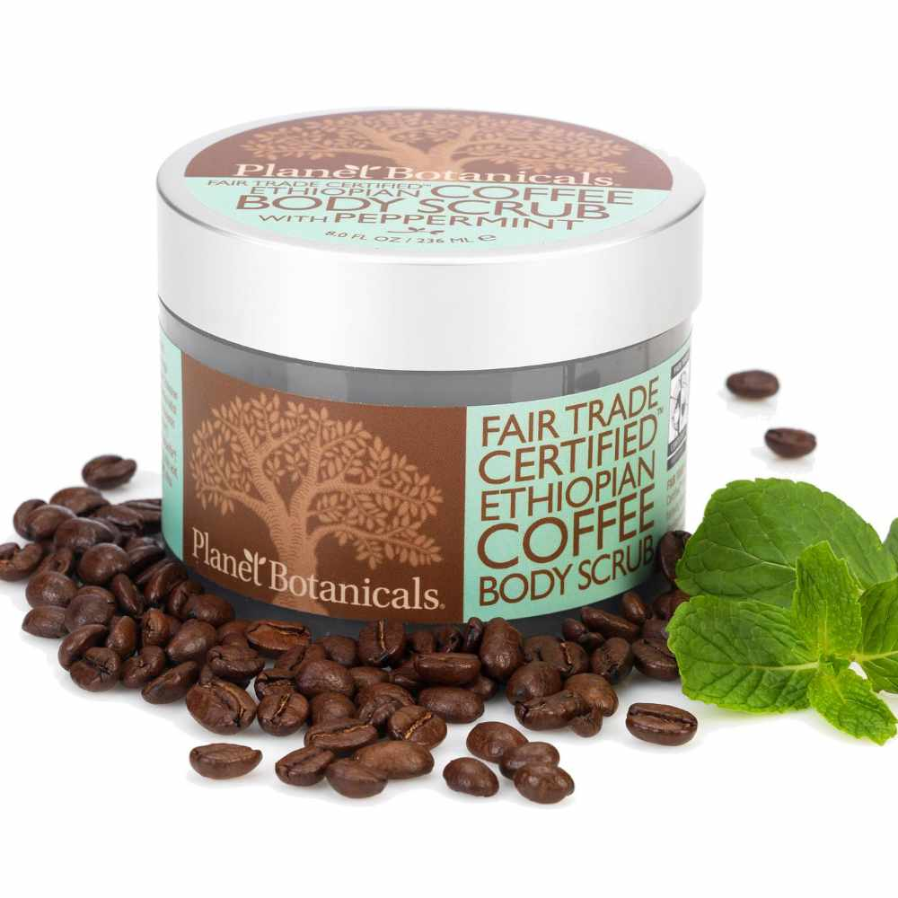 Ethiopian Coffee Body Scrub, Foaming With Fair Trade Coffee
