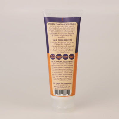 Moringa Shea Butter Hand Cream with Lavender 3.4 oz Tube