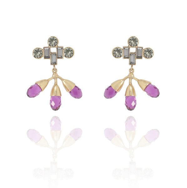 LL Pink Crystal Earrings