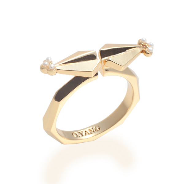 Deco Arrow Ring