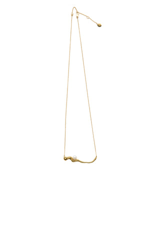 FLOW Pearl Pendant Gold Necklace