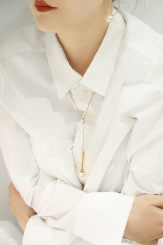 O.Yang Smile Long Gold Necklace