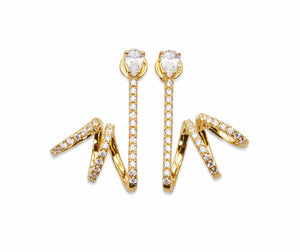 INFINITE Gold Earrings with Crystals