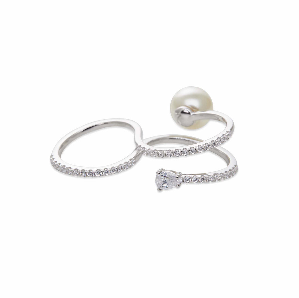 INFINITE Silver Double Finger Ring