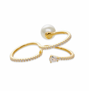 INFINITE Gold Double Finger Ring