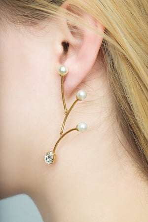 BIAS Gold Moving Sculpture Earrings