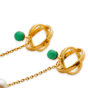SS Small Green Stone Earrings