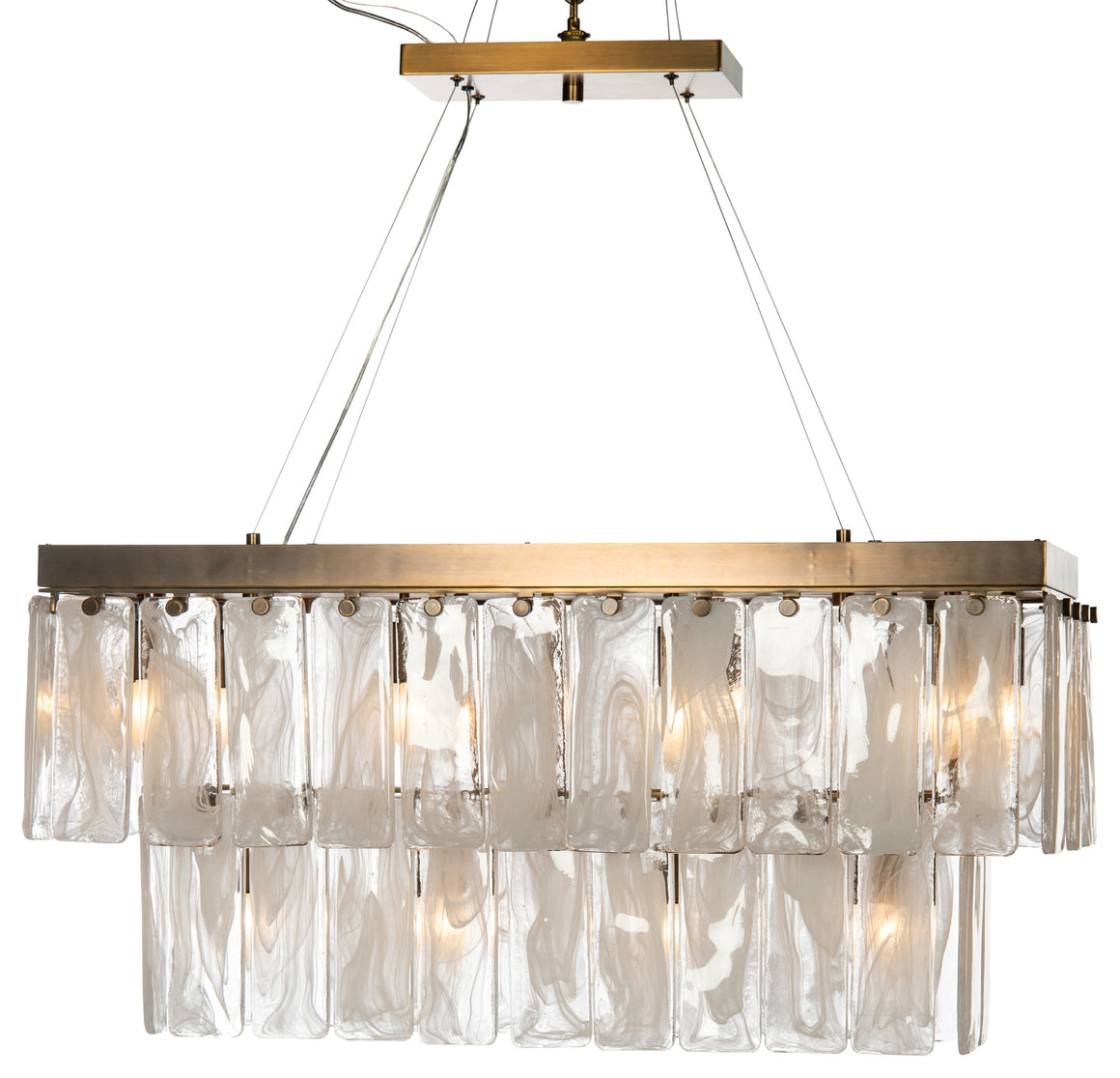 Tiered Glass Chandelier