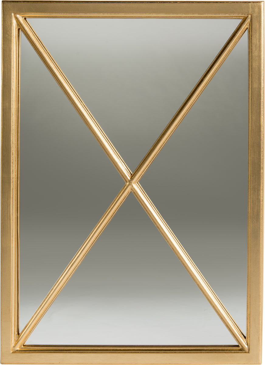 Gold Leaf Cross Mirror