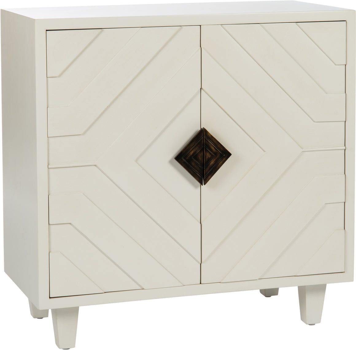 Cream Geometric Chest
