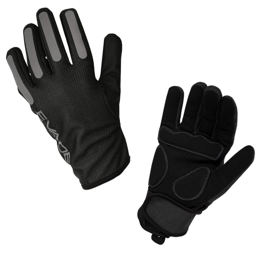 Evade Sport Road Cycling Windout Full Finger Gloves Black