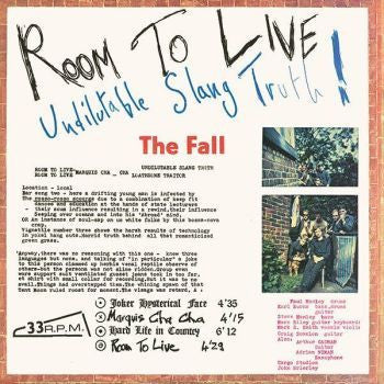 The Fall 'Room To Live' LP