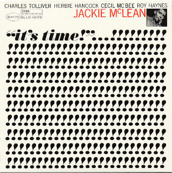 Jackie McLean 'It's Time (Tone Poet Series)' LP