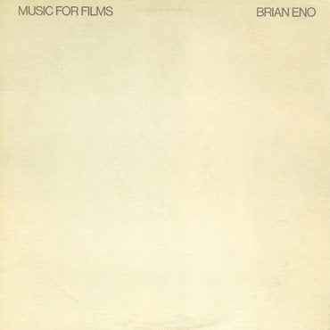 Brian Eno 'Music For Films' 2xLP / LP