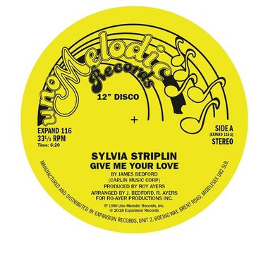Sylvia Striplin 'Give Me Your Love / You Can't Turn Me Away' 12""