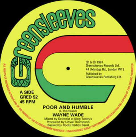 Wayne Wade 'Poor and Humble' 12""