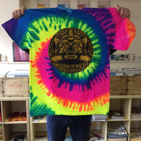 Bear Tree Records Tie Dye T-Shirt by Tom J Newell