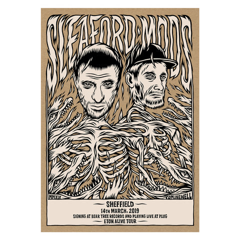 Sleaford Mods Eton Alive Print by Tom J Newell