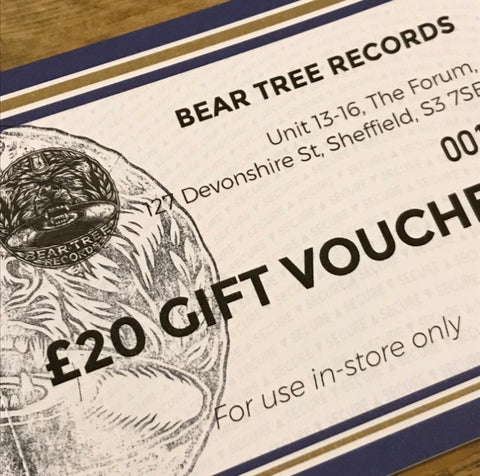 Bear Tree Records Gift Vouchers (FOR USE IN-STORE ONLY)