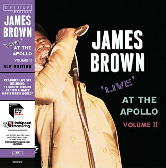 James Brown 'Live At The Apollo Vol. II' 3xLP
