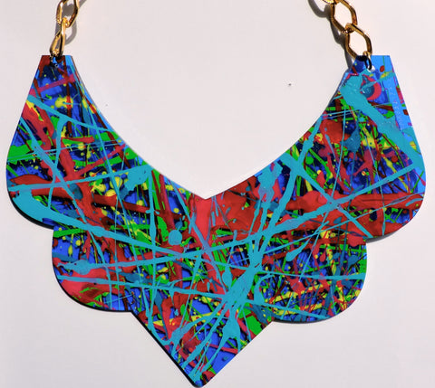 Bambola D´Oro Colorearte Large Necklace - Aqua Multi