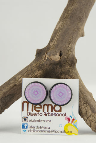 Mema Lavender Mandala Amor Universal Round Earrings - Universal Love