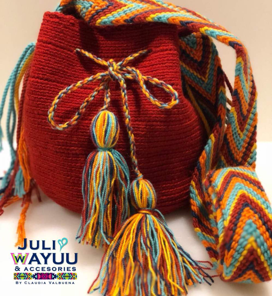 Juli Wayuu Mini Wayuu Mochila - Burnt red