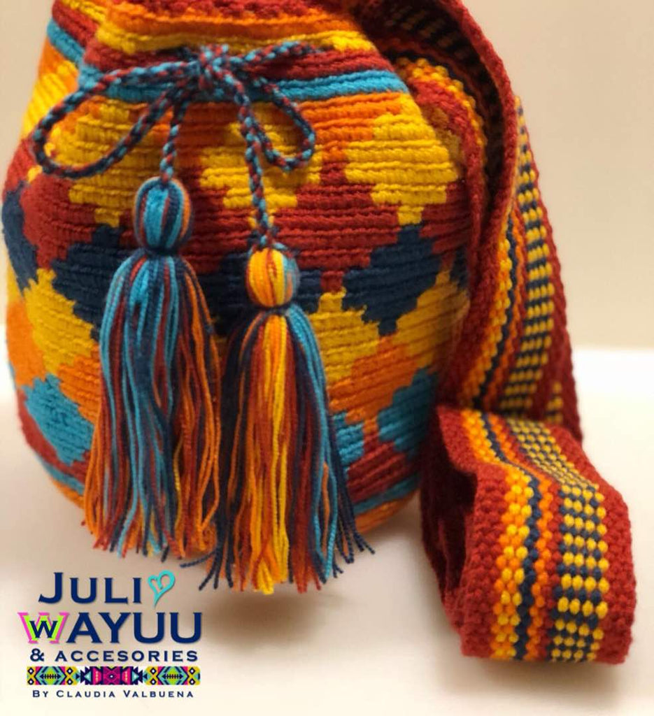 Juli Wayuu Mini Wayuu Mochila - Ethnic diamonds