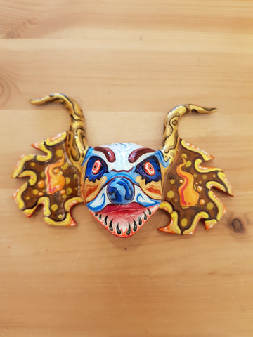"Diablos Corp ""El Payaso Infectado"" Hand Painted Mask"
