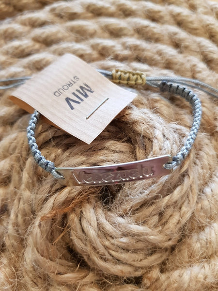 MIV London Venezuela Plaque Cord Bracelet - MORE COLOURS AVAILABLE