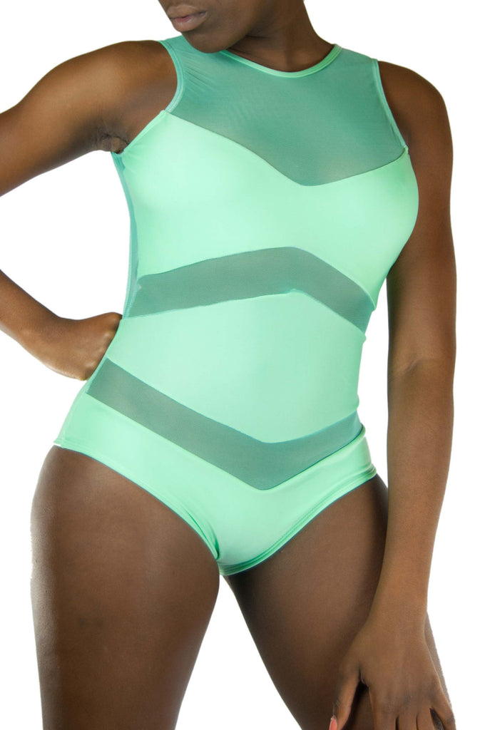 Bequevé Caterina Bodysuit Mint - Medium