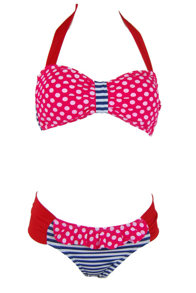 Zuky Sailor Red Polka Dot Swimsuit