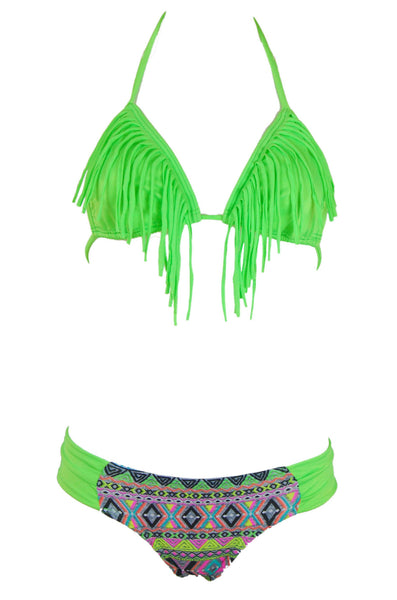 Zuky Neon Green Bikini Swimsuit