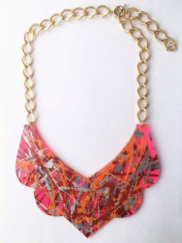 Bambola D´Oro Colorearte Large Necklace - Neon Pink Mix