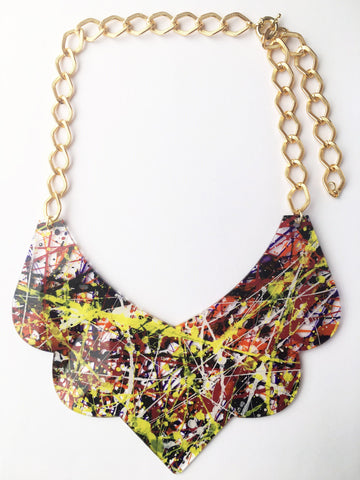 Bambola D´Oro Colorearte Large Necklace - Yellow Mix