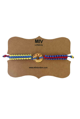 MIV London Venezuela Circle Charm Tricolor Bracelet