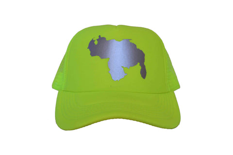 MIV Cap/Hat Venezuela Map - Neon Yellow